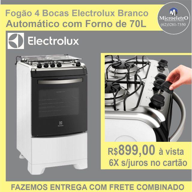 Fogão 4 Bocas Electrolux Branco  Automático