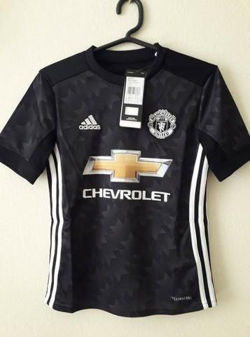 31042a65b2 Camisa Manchester United Infantil Torcedor Adidas - Preto - Roupas e ...