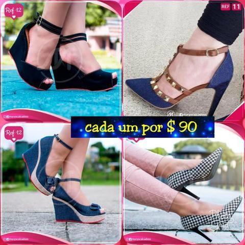 6ebcbfaa2e Vendo esses lindos sapatos femininos salto e plataforma promoção dia das  mães!
