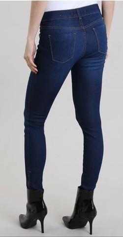 36d74ecb8 Calça Jeans Feminina Skinny Yessica Azul Escuro Tam 42 - Roupas e ...
