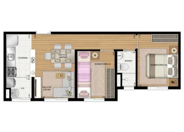 Apartamentos de 2 dorms, Zona Oeste - Foto 17