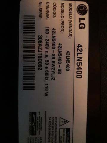 Tv lg de led 42 plg semi nova só R$ 250,00 - Foto 3