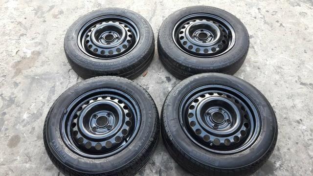 Rodas e pneus original GM 4 furos.baratoo - Foto 2