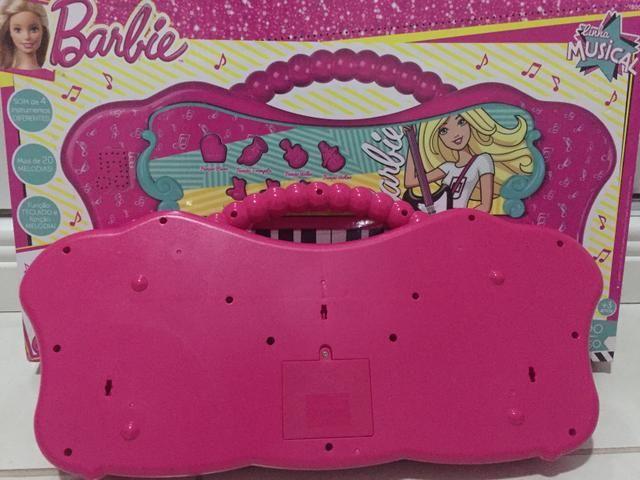 Vendo teclado musical da Barbie na caixa! - Foto 3