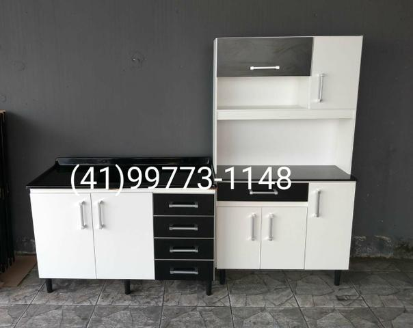 Kit Cozinha. Pia+Armário. NOVOS. ENTREGAMOS - Foto 4
