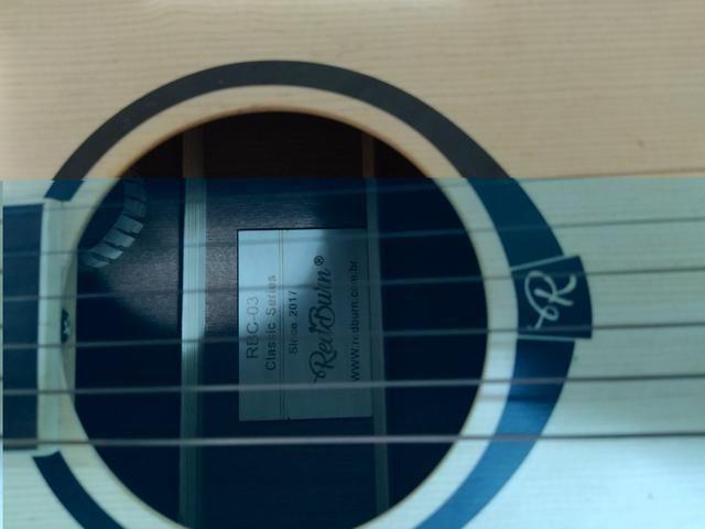 Violão redburn rbc-03 zebrano aço elétrico - Foto 5
