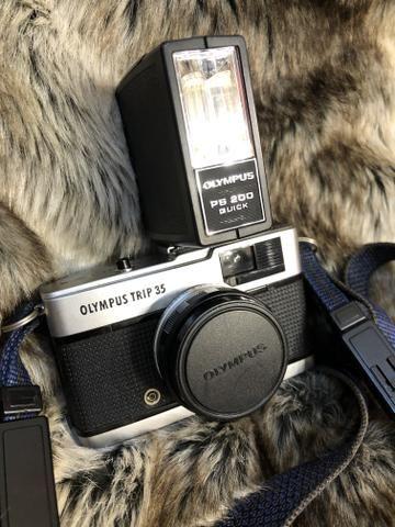 Câmera antiga olympus trip 35 - Foto 2
