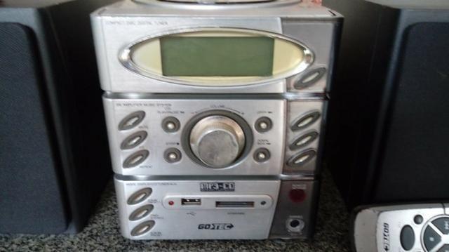 Som toca CD, MP3, pen drive, cartão de memória, rádio - Foto 2