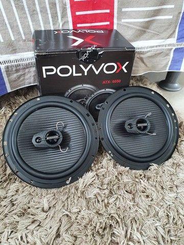 Alto falante 6 polegadas Polyvox 110w RMS, novo!