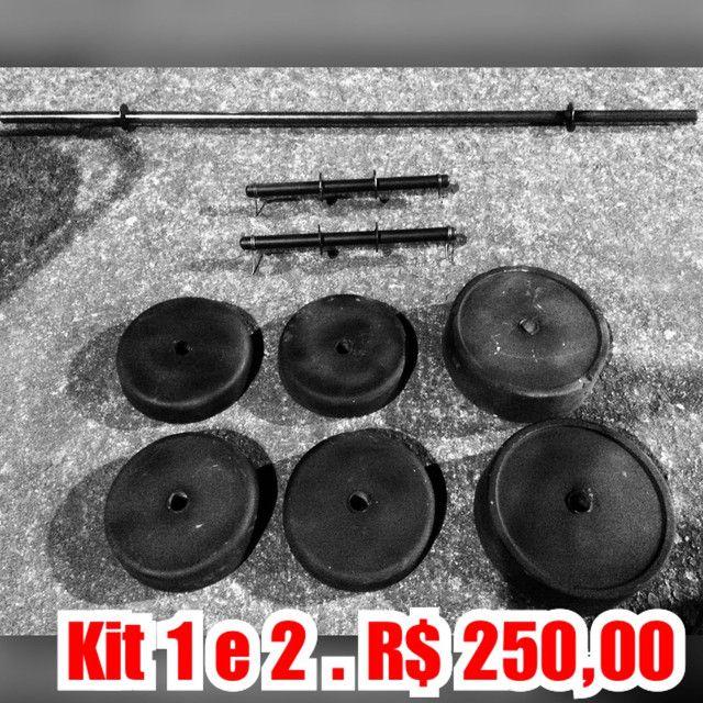 Kits de Barras e anilhas artesanal musculação  - Foto 3