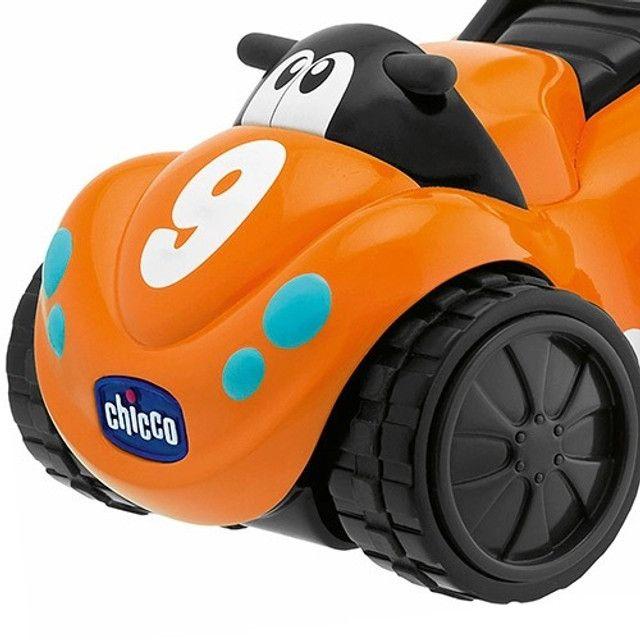 carrinho de Brinquedo Bebê/Infantil Turbo Touch Quaddy Laranja - Chicco - Foto 3