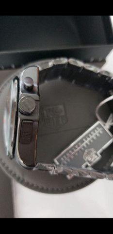Relógio Tag Heuer Mercedes Benz SLS Black a prova d'água Completo - Foto 4