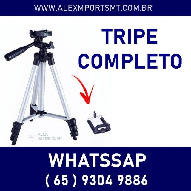 Tripé Universal 1,20mt Suporte Para Celular Câmera