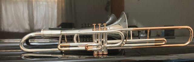 Trombone Weril Prata Sib Curto - Foto 3
