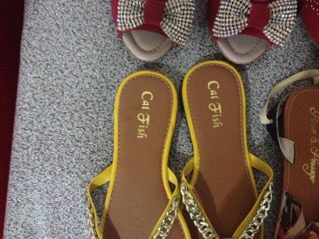 770386731 4 Pares de calçados sandálias, rasteirinha ,sapato marcas 38 diversas fundo  de estoque