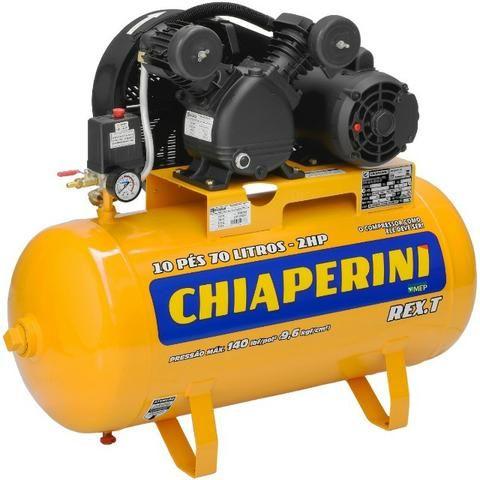 Compressor de Ar 10 pés 70 litros Monofásico REX.T - Chiaperini