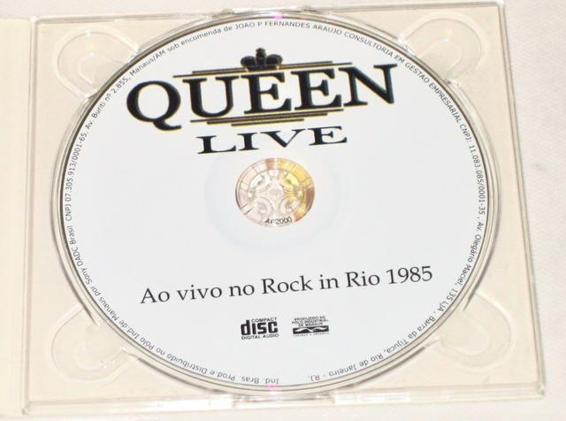 CD QUEEN ROCK IN RIO 1985 Live (Original/Ao Vivo Brasil) - Foto 3