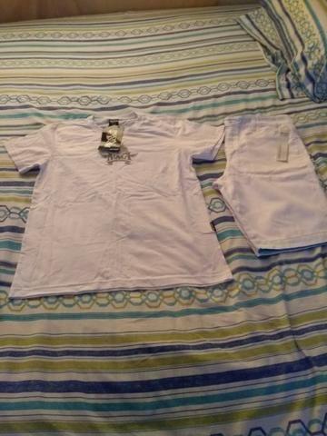 Short tamanho 14 e camiseta m