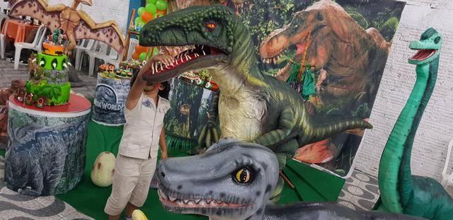 Dinossauro em sua festa .realisno e pontualidade!! - Foto 5