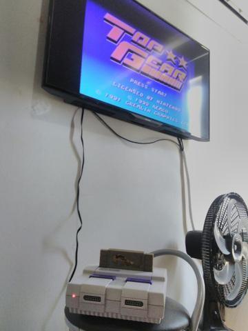 Super Nintendo com fita Top Gear 1