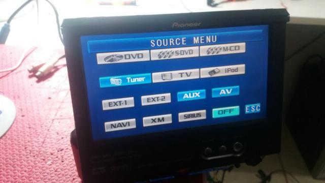 DVD retratil piooner para carro entrego - Foto 2