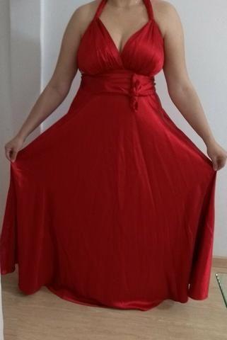 Vestido de Festa Longo Vermelho 44/46 - Foto 2