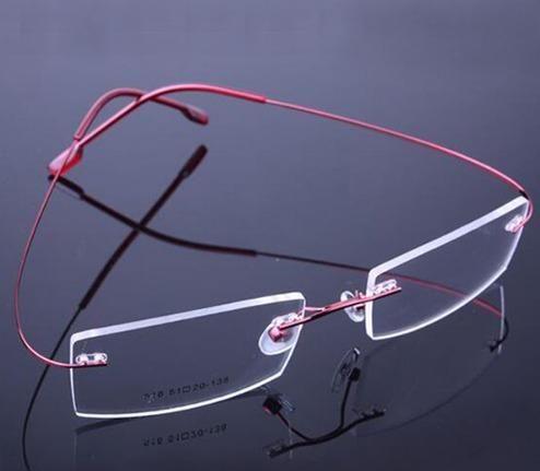 e60d19812ebd6 Armação Em Titanio P  Óculos De Grau Sem Aro Várias Cores ...