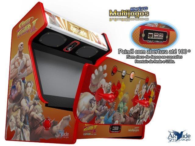 """Arcade Bartop Fliperama Multijogos Retro Tema: Street Fighter ll com 7050 jogos Tela: 22"""" - Foto 6"""