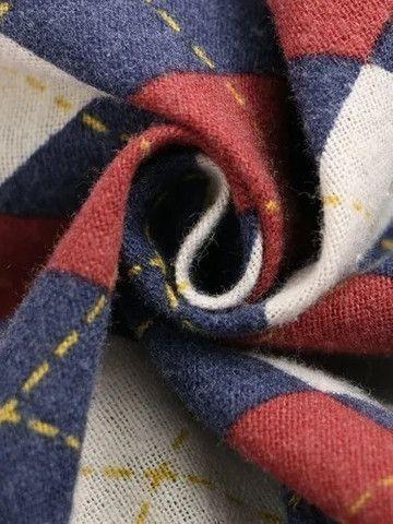 Camisa De Botão Masculina Em Linho Shein - Estampa Retrô - Tamanho G - Foto 4