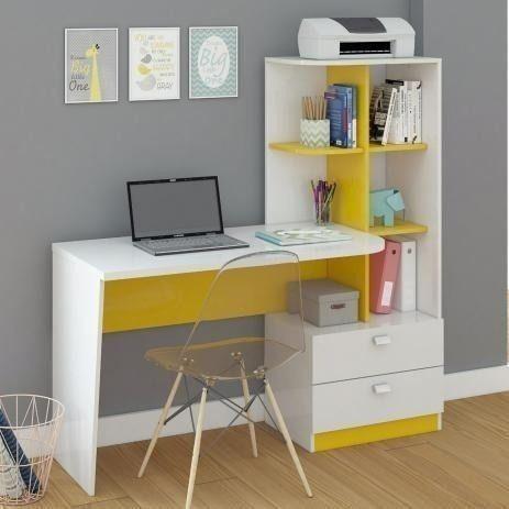 Mesa Elisa para escritório/computador modelo com estantes e gavetas - NOVO - Foto 3