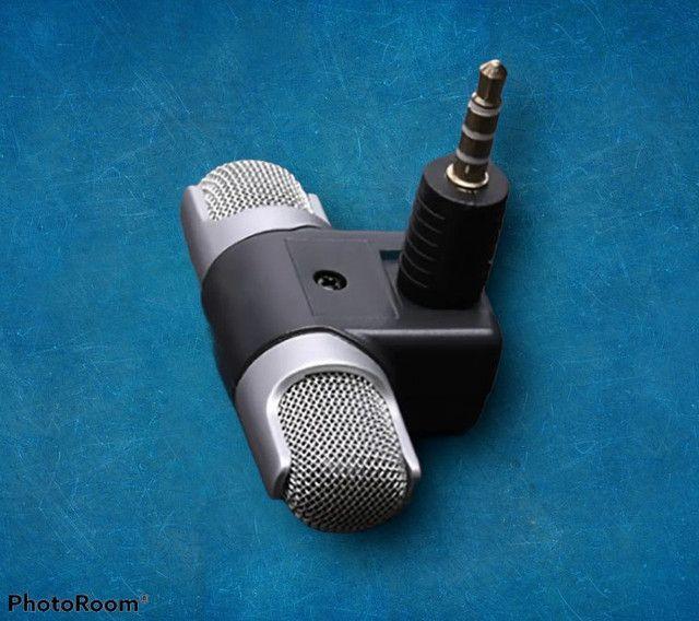 Mini microfone pra celular esterio super som grande promoção - Foto 3