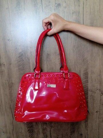 Bolsa vermelha em sintético - Foto 2