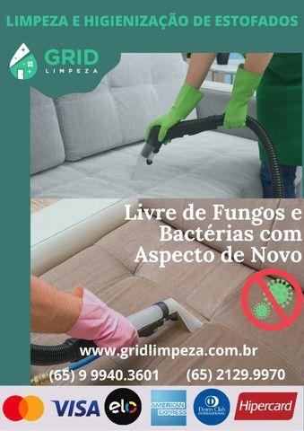 Limpeza e Higienização de Estofados - Grid Limpeza (65) 9 9940.3601