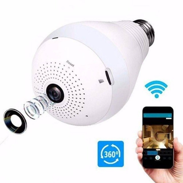 Lâmpada LED com Camera 360º WIFI