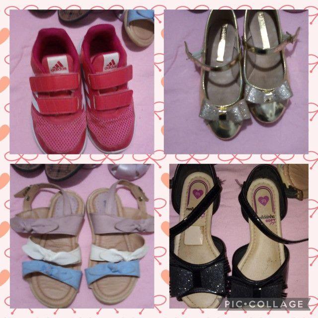 Lote de menina roupas e calçados - Foto 3