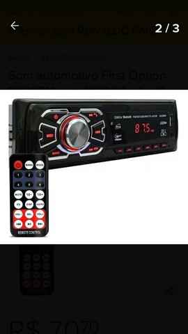 Rádio usb automotivo