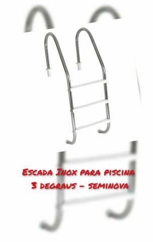 Escada Inox para piscina 3 degraus
