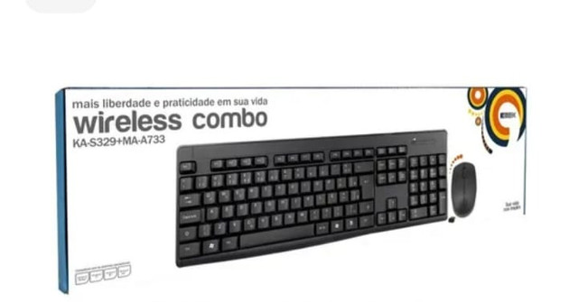 Kit mouse e teclado wireless kmex