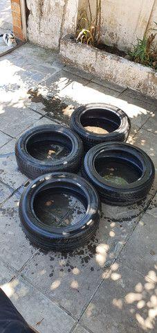 4 pneus 215/55 R17 Michelin R$: 800 somente dinheiro  - Foto 2