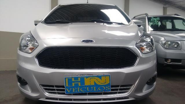 Novo Ford Ka hatch SEL top motor 1.5 16v flex 4p prata raridade 24.000km ipva2018pgvist