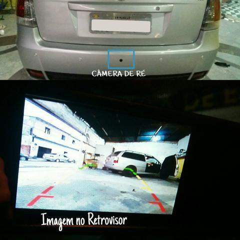Retrovisor interno com tela LCD + Câmera de Ré