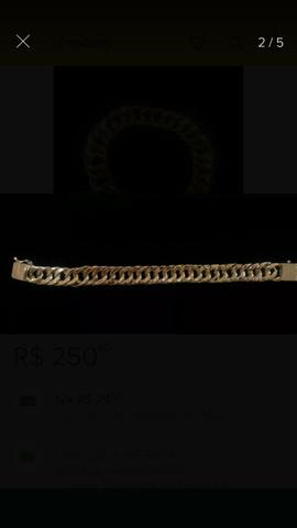 Corrente + pulseira grume feita de moeda antiga com garantia eterna - Foto 2