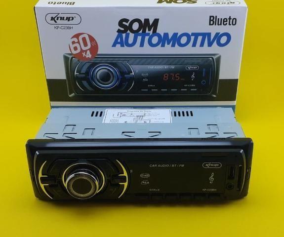 Som Automotivo ( Knup - Novo ) Bluetooth - Usb - Micro SD - Auxiliar - Radio FM