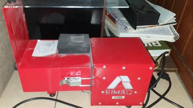 Máquina jateamento de vidros/acrílico/inox