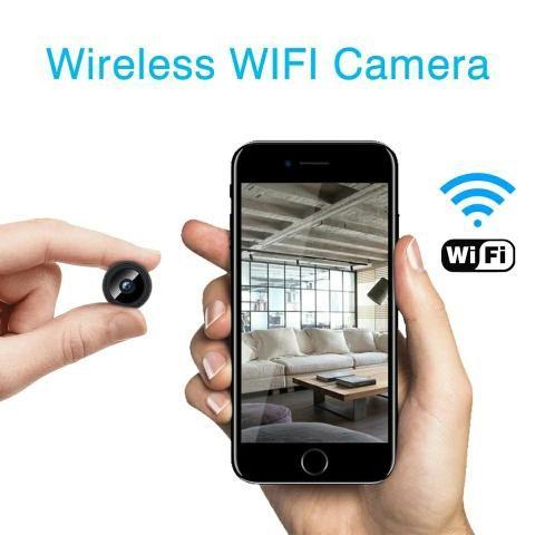 Mini câmera a9 wifi, visão noturna, suporte a internet! 4x sem juros! - Foto 2