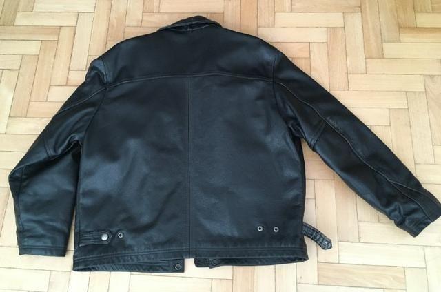 Jaqueta couro preta francesa pouco uso - Foto 5