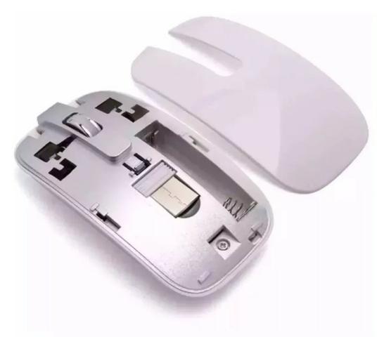 (NOVO) Kit Teclado E Mouse Sem Fio Ultra 2.4g Branco + Película - Foto 3