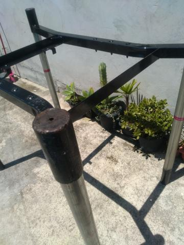 Vendo estruturas de ferro reforçado e desmontável. Tipo mesa !! $35,00.!! - Foto 2