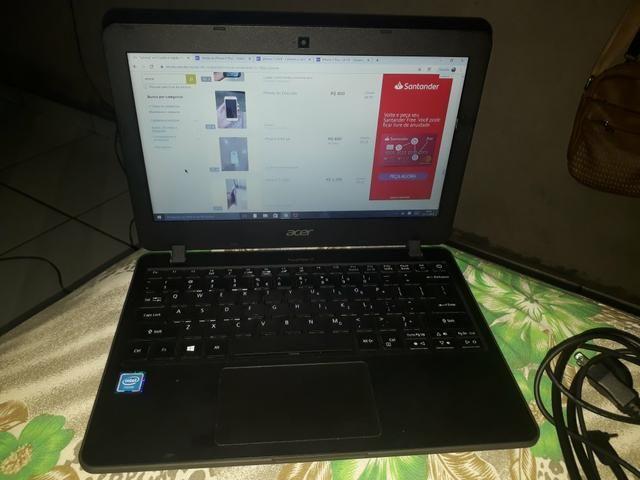 Vendo not Acer ou troco por iphone 7 ou 8. vai com capa protetora