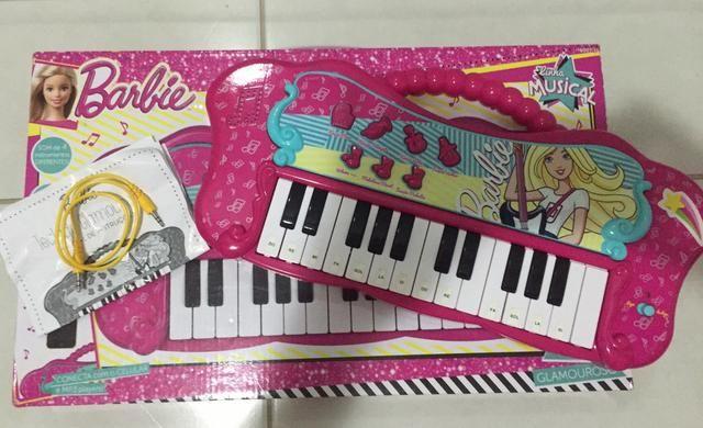 Vendo teclado musical da Barbie na caixa! - Foto 2